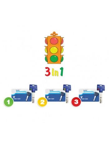Опция 3 в 1  Светофор  Mul-t-lock, 3+1+1 ключ Interactive+