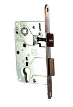 Межкомнатный механизм AGB B.010255022 Centro под евроцилиндр, бронза