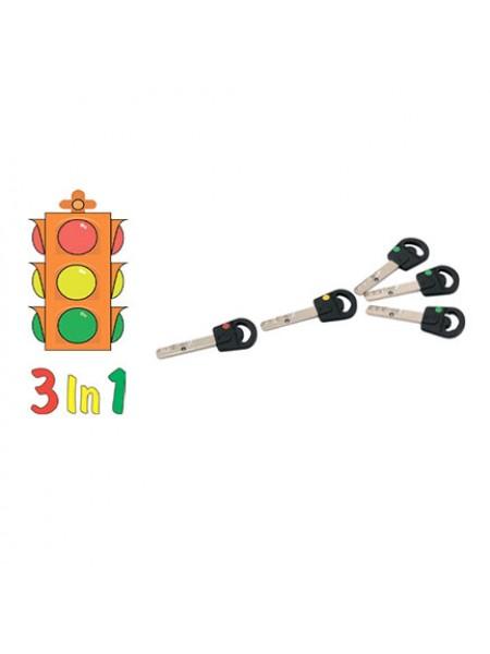 Опция 3 в 1  Светофор  Mul-t-lock, 3+1+1 ключ ClassicPro