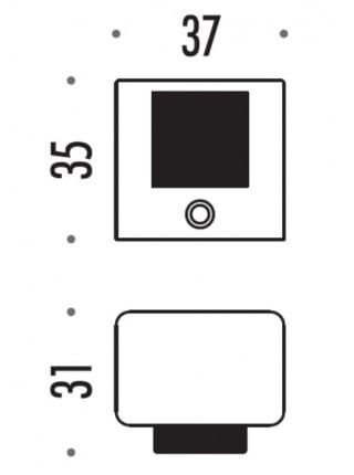Стопер Colombo LC112, матовый хром