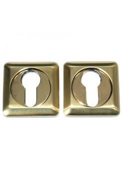 Накладки под цилиндр Apecs DP-C-05-SQUARE-GM, матовое золото