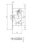 Межкомнатные замки AGB B.0110250F9 Mediana Evolution WC , титан
