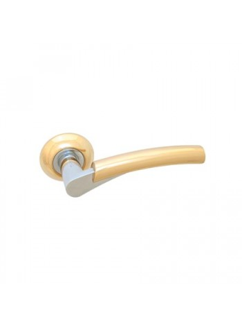 Ручка на розетке Apecs H-0521-Z-G/CR Premier, золото/хром