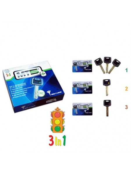Опция 3 в 1  Светофор  Mul-t-lock, 3+1+1 ключ MT5+
