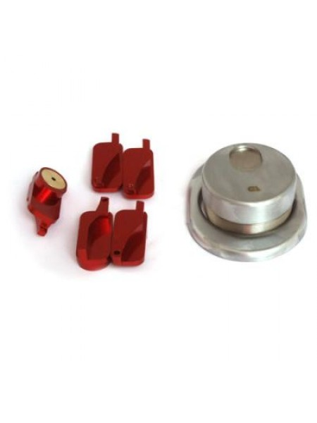Броненакладка магнитная Disec MR-129 хром мат.