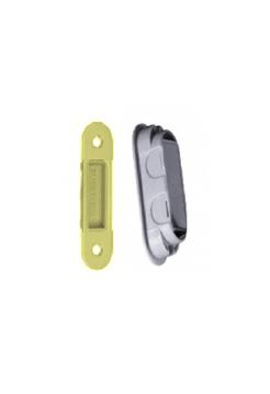 Ответная планка STV магнитная, декор+пластик, латунь матовая