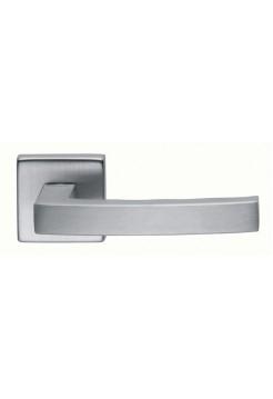 Ручки дверные Martinelli GRIP 02 DUE ZCS, матовый хром + накладка под цилиндр