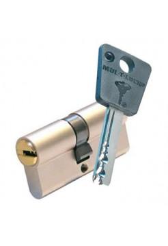 Цилиндр Mul-t-lock 7x7 62 (27x35) никель