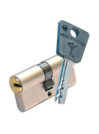 Цилиндр Mul-t-lock 7x7 90 (35x55) никель