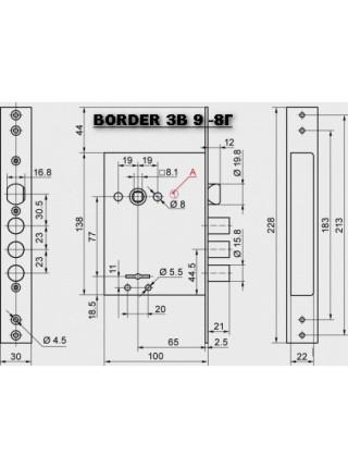 Замки врезные Border ЗВ 9-8Г/15 (87301)