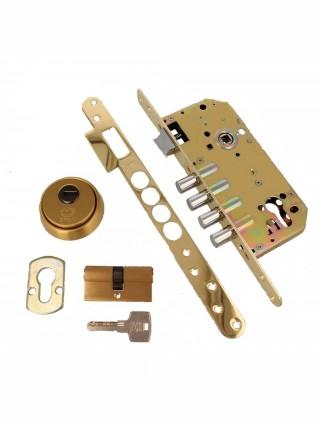 Противовзломные ручки Rostex SOLID-PRO + R1 85 мм,56-70 мм, нерж.сталь мат.титан