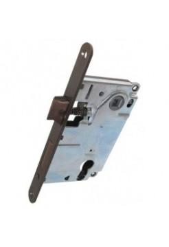 Межкомнатный механизм AGB B.040255022 Centro Focus под евроцилиндр, бронза