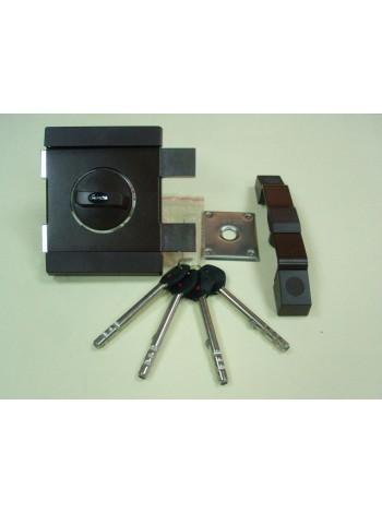 Накладной замок Gerda Tytan ZX GT-8 (длинный ключ)