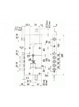 Врезной замок Сisa 56835.48 Comfortlock (c ручками)
