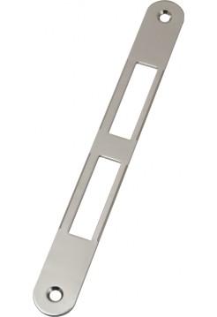 Ответная планка AGB B.01000.01.06(защелка+ригель) без отбойника, никель