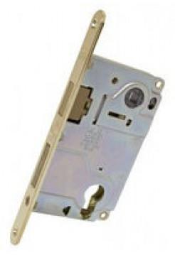 Межкомнатный механизм AGB B.040255003 Centro Focus под евроцилиндр, латунь
