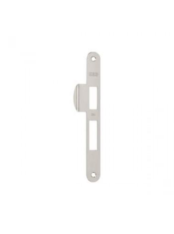 Ответная планка AGB B.01000.21.06(защелка+ригель) с отбойником, никель
