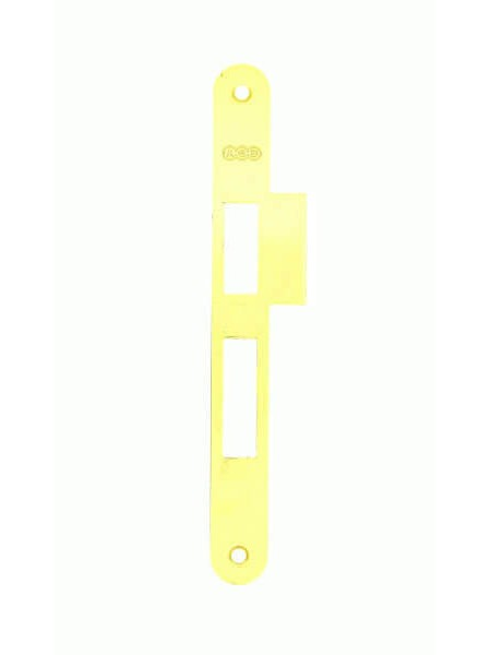 Ответная планка AGB B.01000.21.03(защелка+ригель) с отбойником, латунь