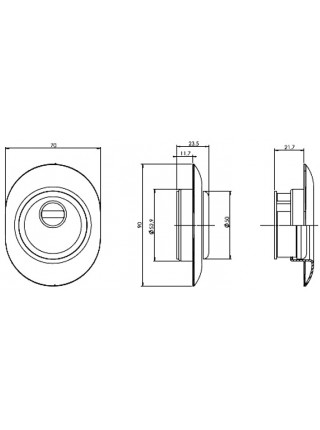 Протектор Mul-t-lock ESETY A615 , латунь