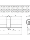 Цилиндр Kale 164 СЕС  80 (40х40)Т, тумблер, латунь, 5 кл.