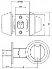 Замок врезной Mul-t-lock Dead Bolt Hercular,ключ-тумблер,Interactiv+,сатин-никель