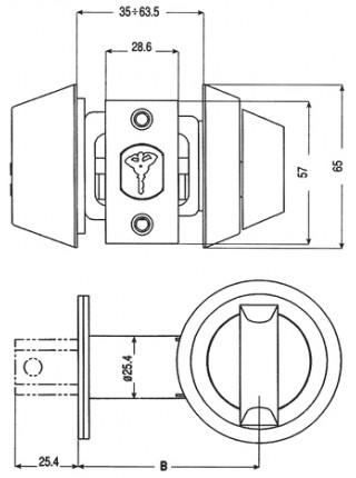 Замок врезной Mul-t-lock Dead Bolt Hercular,ключ-тумблер,Interactiv+,коричневый