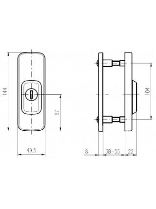 Броненакладка ROSTEX R3 ASTRA DIN,38-55мм, титан-сатин