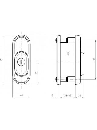 Броненакладка ROSTEX R3 DECOR DIN,38-45мм,мат. титан