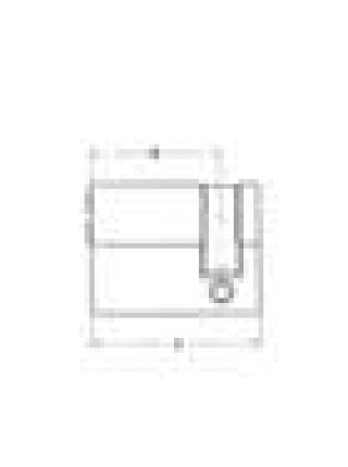 Цилиндр Abloy Novel 321U 68 (57,5x10,5) латунь