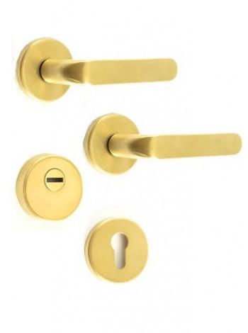 Противовзломные ручки Rostex Rotondum R4/S золото нерж.