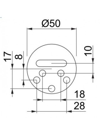 Броненакладка магнитная Disec MG-220 mini, латунь