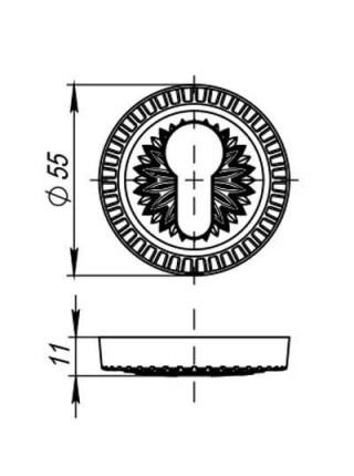 PZ накладки ARMADILLO ET/CL-AS-9 античное серебро