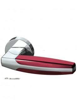 Ручка на розетке Armadillo ARC URB2 СР/Bordo, хром/бордовый