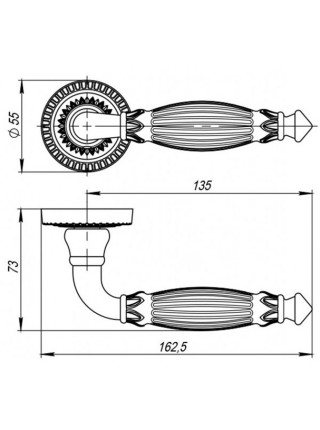 Ручка на розетке Armadillo  Bella CL2 ABL-18 Темная медь