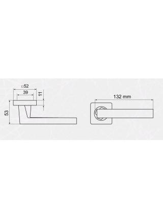 Ручка на розетке Armadillo  CORSICA SQ003-21SN-3 матовый никель