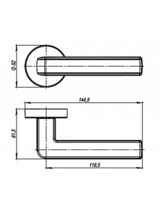 Ручка на розетке Armadillo CUBE URB3 SN/White-19 Мат никель/белый
