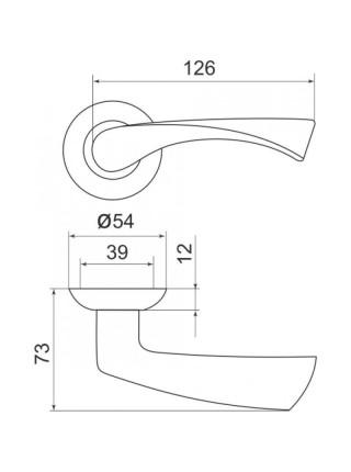 Ручка на розетке Armadillo Capella LD40-1SN/CP-3 матовый никель/хром