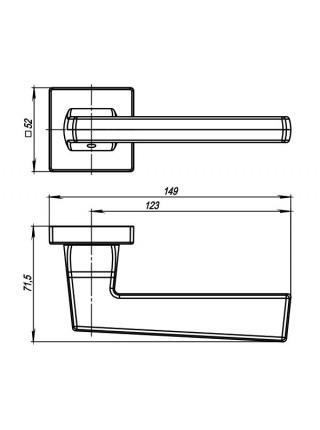 Ручка на розетке Armadillo  GROOVE USQ5 BB/SBB-17 Кор бронза/мат кор бронза