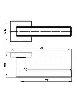 Ручка на розетке Armadillo  ORBIS SQ004-21SN/CP-3 мат никель/хром