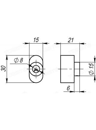 Тумблер на цилиндр Armadillo CB-S-GP-2 золото