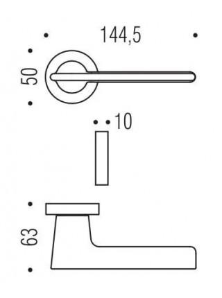 Дверные ручки  Colombo Alato JP 11, матовый графит