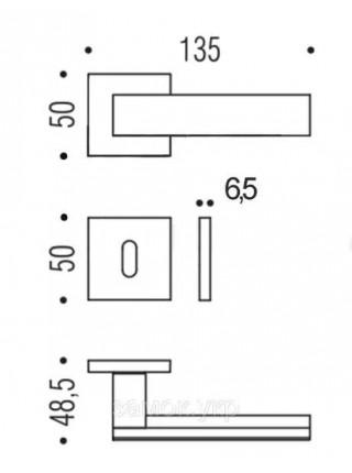 Дверные ручки  Colombo Alba LC 91, графит/матовый графит