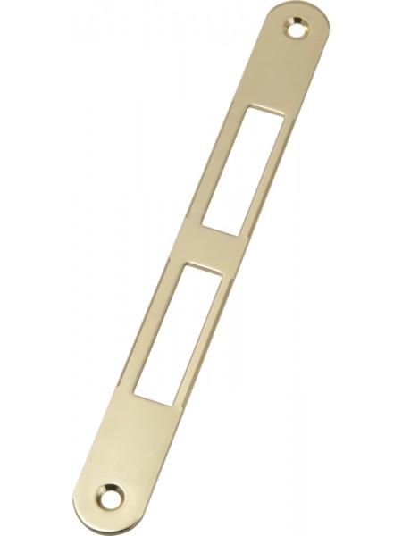 Ответная планка AGB B.01000.01.03(защелка+ригель) без отбойника, латунь