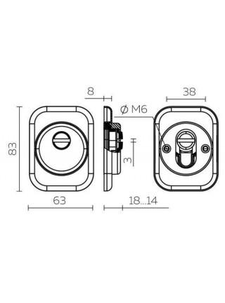 Броненакладка FUARO DEF 4286 SQ XL квадрат (хром) CP-8