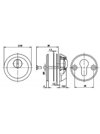 Броненакладка FUARO  DEF 5513 CP ХРОМ