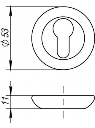 PZ накладки FUARO ET AR SN/CP-3, мат. никель/хром