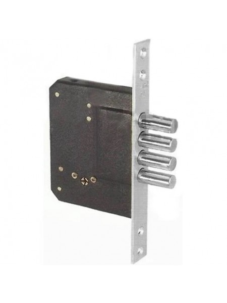 Врезной замок FUARO 200-4MF/CP, хром 5 ключей
