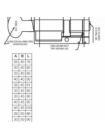 Цилиндр Kale 164 ASM 80 (35x45Т), тумблер, латунь