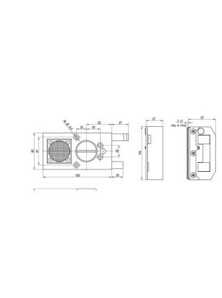 Накладной замок Gerda Tytan ZЕ-1 GT-8, сигнализация (длинный ключ)