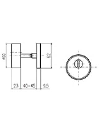 Броненакладка ROSTEX R3/S ROTONDUM DIN,38-45мм, мат. титан